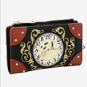 RARE Loungefly Disney Peter Pan Clock Wallet